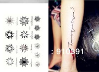 Free shipping Sexy DIY Temporary tattoo,unisex waterproof tattoo sticker as Concise body art painting accessories.