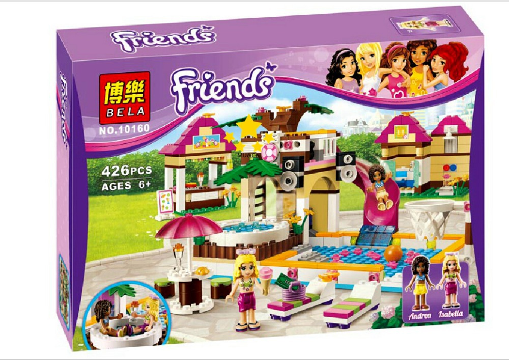 Construction Toys For Girls : Bela building blocks friends swimming pool