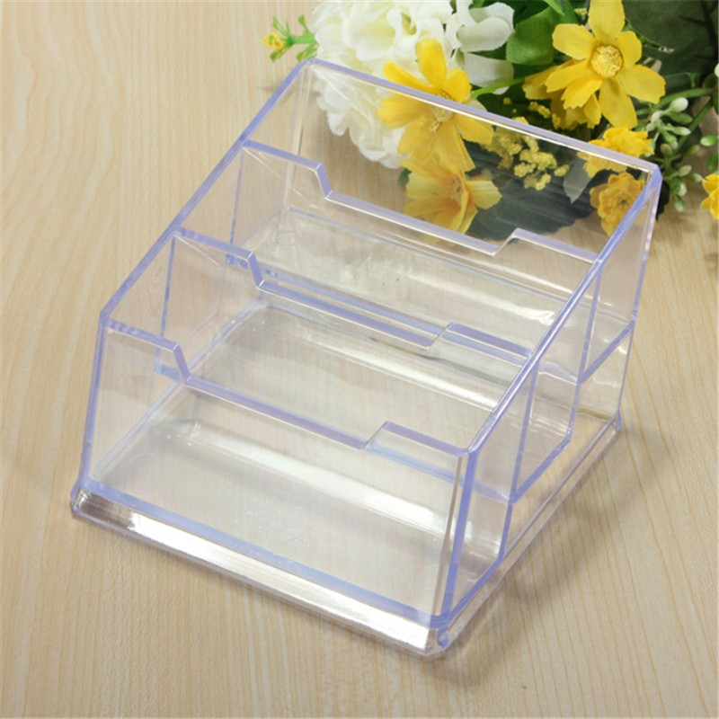 Plastic Business Card Holder Design For Easy Placement Transparent Clear The Cards Case Three Styles To Choose(China (Mainland))