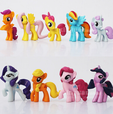 Top Selling New Designer Wholesale Kids Toys Fashion Cute Cartoon Plastic Action Figures Toys Little Pony Models Ty313(China (Mainland))