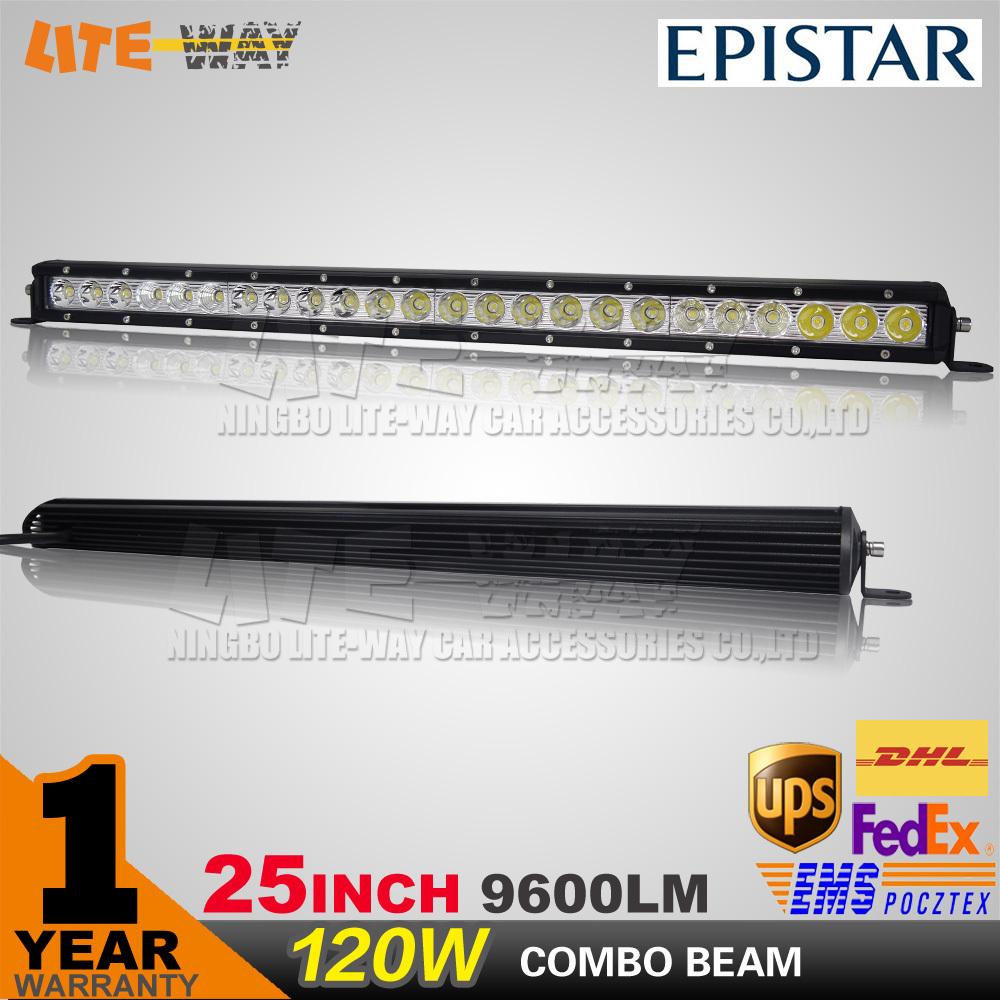 25 Inch 120W LED Light Bar for Off Road Indicators Work Driving Offroad Boat Car Truck 4x4 SUV ATV Fog Spot + Flood Combo 12V<br><br>Aliexpress