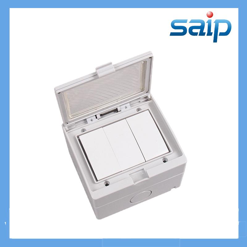 Waterproof Three Push Button Wall Switcher/Electric Switch(IP55) 94*84*63(mm)Size(China (Mainland))