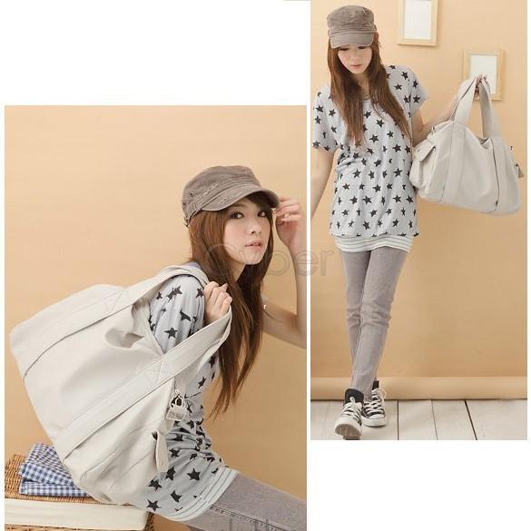 Korean Stylish Style Women's PU Leather Handbag Shoulder Bag Large Capacity Colors 18