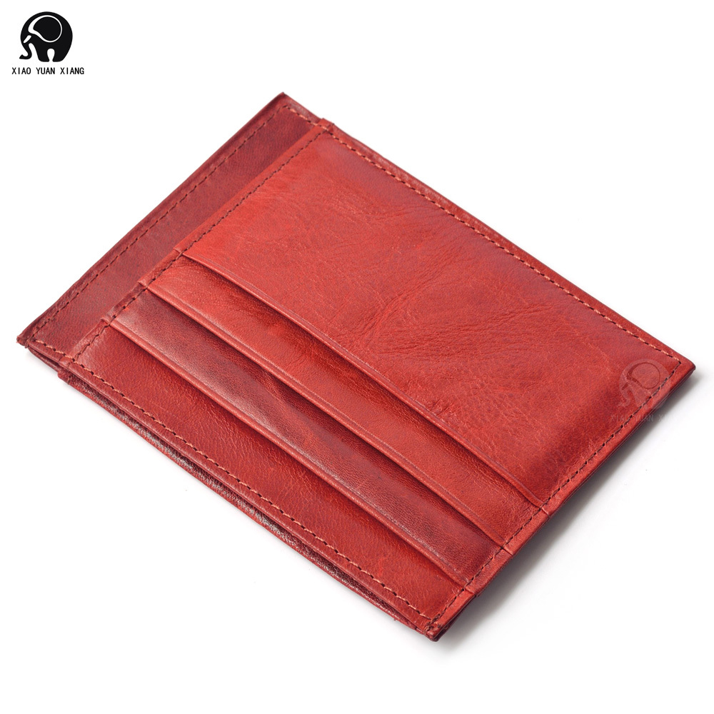2015 new fashion women men 100 genuine leather credit card for Women business card holder