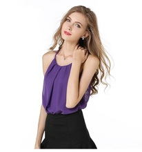2016 summer Europe Exposed collarbone double bottoming wild thin camisole female backing lulu Thin tops SK07