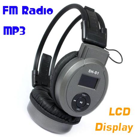 Sport MP3 Earphone Music Player LCD Mirco TF Card Slot Headphone Foldable Wireless FM Radio Headset(China (Mainland))