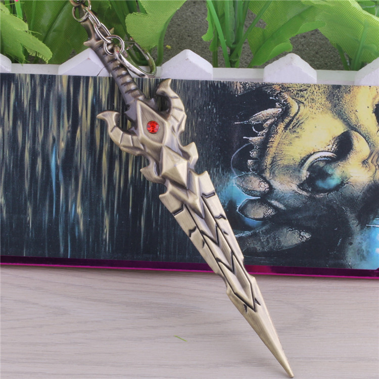 Acg Accessories Hot Game World Of Warcraft Keychain Weapon Model Key Chain WOW Keychains Wholesale DM1018(China (Mainland))