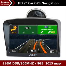 7 inch HD Car Vehicle GPS Navigation 8GB/DDR3 256M 2014 Maps For Europe/Brazil/USA+Canada/Israel/Australia map Sunshade bracket