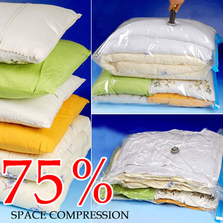 Hot Sale! Household Items Storage Bag Vacuum Seal Compressed Organizer Clothes Quilt Finishing Dust Bag Pouch A Single(China (Mainland))