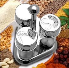 European Cooking Tools 3 Rotating Cruet Sets Salt Pepper Shakers Spice Temperos Bottles Condimentos Galheteiro kitchen Accessory