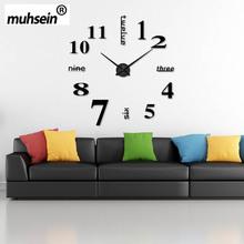 Buy 2017 New fashion 3D big size wall clock mirror sticker DIY wall clocks home decoration wall clock meeting room wall clocks for $9.55 in AliExpress store
