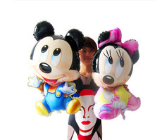 New helium Mickey Minnie Mouse Aluminum Foil Balloons For Happy Birthday Decorations Party Supplies  Mouse Balloon Wholesale(China (Mainland))
