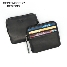 Men Coin Purses small Zipper Pocket Genius Leather Wallets Designer Brand women Mini Wallet Key Card Holders Female Change Pouch(China (Mainland))