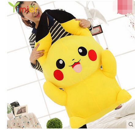 pokemon pikachu plush giant pikachu toys for girls cute gifts for kids japanese anime doll soft cotton Stuffed Toy big size 85cm(China (Mainland))