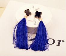 New fashion jewelry vintage earrings drop earring black fashion tassel earrings female for women brincos long earrings(China (Mainland))