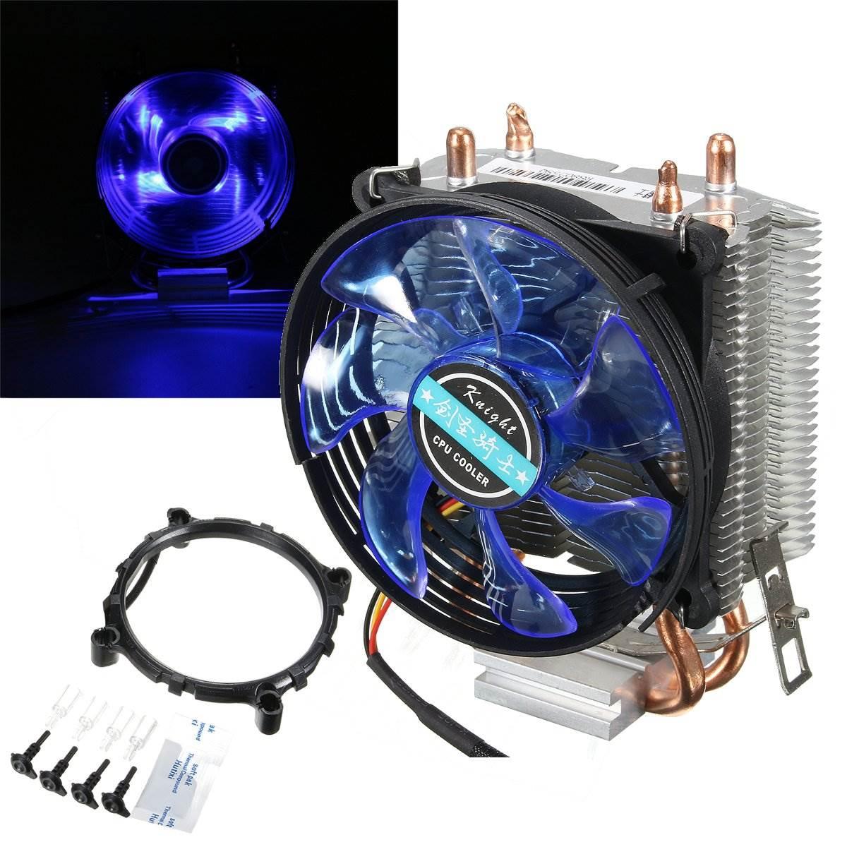 Newest 95x95x25mm LED Cooler Cpu Fan Heatsink Copper for Intel LGA775/1156/1155 for AMD AM2/AM2+/AM3(China (Mainland))