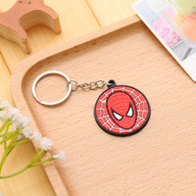 Anime Keyring Doll Cartoon Film Me 2 Minions Spiderman Captain America Shield Action Figure Keychain