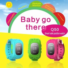GPS Tracker Watch For Kids SOS Emergency Anti Lost Bracelet Wristband Q50 Wearable Devices OLED scree for Smart Phone App(China (Mainland))