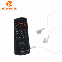 Hot Sale! Rii Mini i25A Wireless Fly Mouse Keyboard with Microphone and Earphone Jack For PC HTPC Smart TV
