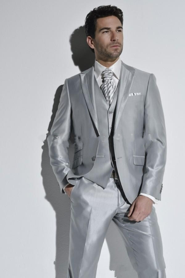 gray wedding suits for men short hairstyle 2013