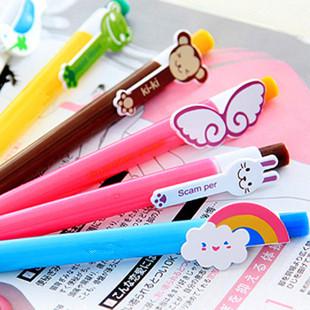 Korea stationery animal cartoon colorful ballpoint pen style pen_Free Shipping(China (Mainland))