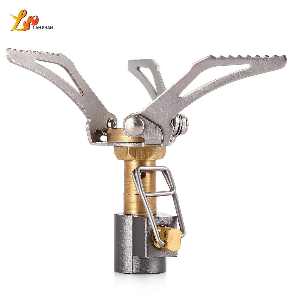 Picnic Big Power Windproof Gas Stove Outdoor Cooking Firepower Energy Saving Outdoor Mini Furnace Gas Stove Lighter Lightweight(China (Mainland))