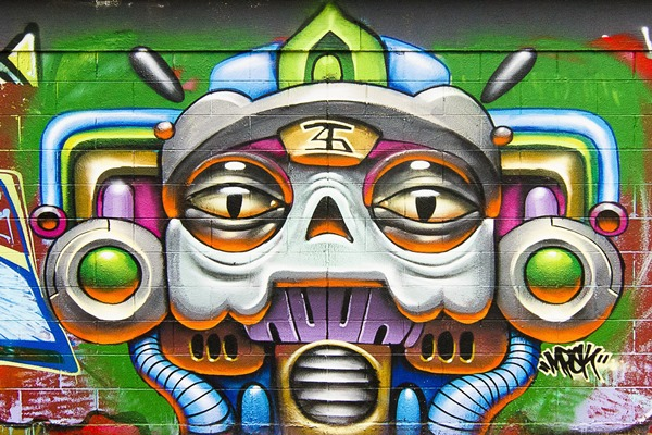 24X36 INCH / ART SILK POSTER / art color Graffiti paint psychedelic Urban wall rue tag peinture Home Decoration Canvas Poster(China (Mainland))