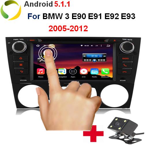 "RK3188 Quad-Core Contex 7 ""1 GB/16 GB 2 Din Auto PC Android 5.1.1 Auto DVD For BMW E90 E91 E92 E93 Met GPS OBD DVR 3G WiFi(China (Mainland))"
