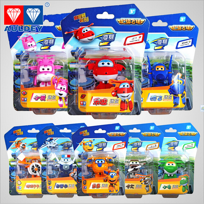 8pcs/lot Superwings Free shipping super flash mini robot a full set of its eight children toy gifts for Christmas Super wings(China (Mainland))