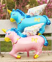 104 CM de gran tamaño Flying Horse historieta del papel de aluminio fiesta de cumpleaños de globos decoración de la boda partido de los niños proveedor B046