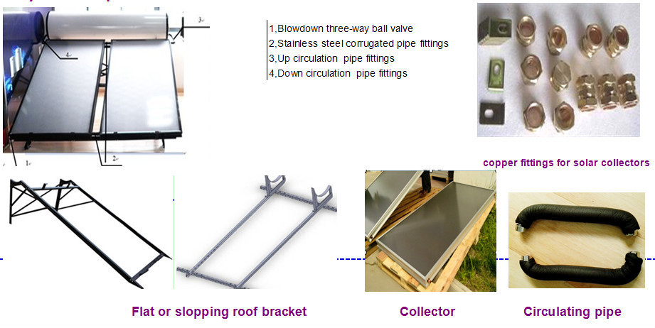 Integrated Pressure Flat Plate Solar Water Heater/collector compact solar water heater(China (Mainland))
