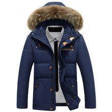 Plus la Taille De Mode Designer 2016 Canada D'hiver Casual Fourrure À Capuchon Parkas Orange Hommes Manteau Doudoune Campera Ukraine Marque de Vêtements(China (Mainland))