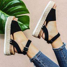 Zapatos de cuña para mujer Sandalias de tacón alto zapatos de verano 2019 chussures sandalias de plataforma para mujer 2019 de talla grande(China)