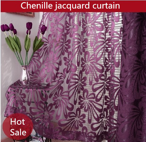 Purple Curtains For Bedroom Living Room Sided Jacquard Chenille Purple Window Curtains Living Room Bedroom