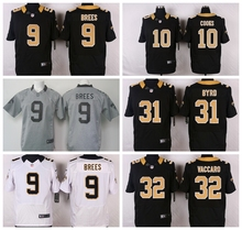 100% Stitiched,New Orleans Saints,9 Drew Brees,Jairus Byrd,Kenny Vaccaro(China (Mainland))
