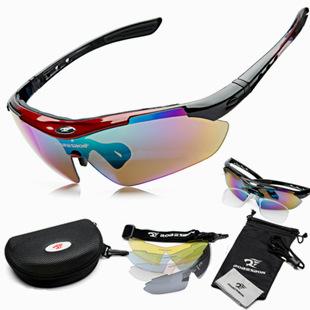 Brand designer sports men women bike bycicle cycling eyewear polarized sunglass sunglasses goggles oculos glasses 5 lenses(China (Mainland))