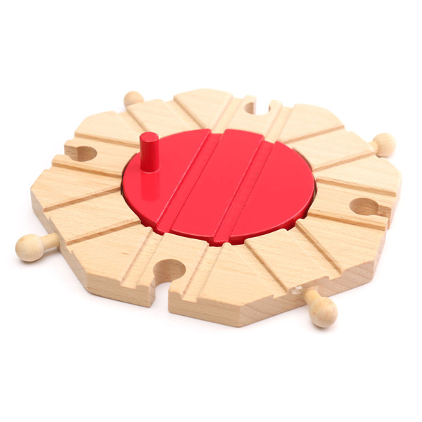 1pcs Miniature Wooden Train Switch Track Set Circular Turntable Educational Toys Boy Kids Toy Fit Thomas and Brio(China (Mainland))