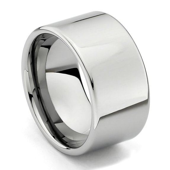Very large size width 12mm high polished tungsten ring mens cool ring(China (Mainland))