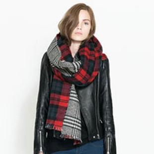 Новая осенне-зимний шерстяной шарф двойная вспышка теплый платок шарфы унисекс шарфы