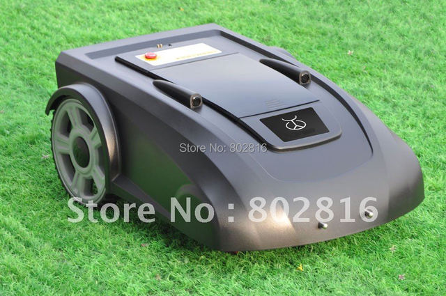 Virtual Wire 400m,Robotic Grass Trimmer With Newest Function ELECONTRONIC COMPASS +Remote Controller+ Li-ion Battery +CE&ROHS