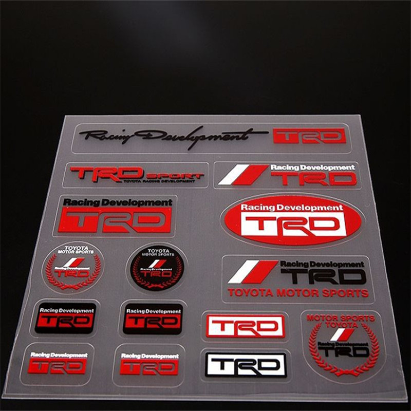 Motorcycle Sticker Design Toyota Motor Sports Logo Sticker Decals Transparent Vinyl TRD Label Sticker for Whole Car Body(China (Mainland))