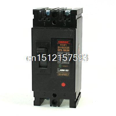 AC 380 V 100 Ampères 2 P 2 Pólos Disjuntor Moldado do Caso DZ15-100/290(China (Mainland))