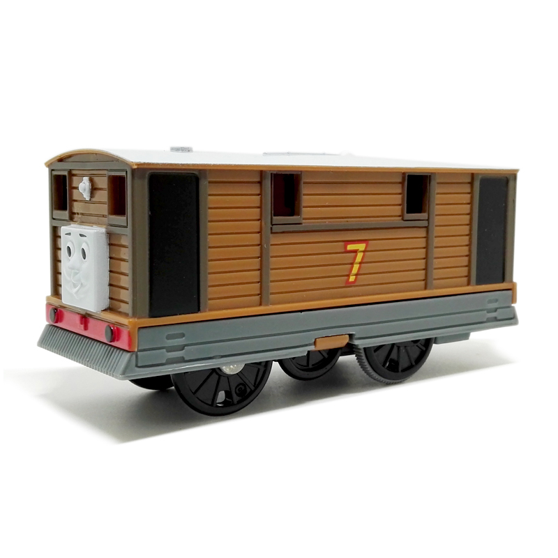 T0190 Electric Thomas and friend Toby Trackmaster engine Motorized train Chinldren child kids plastic toys gift without package<br><br>Aliexpress