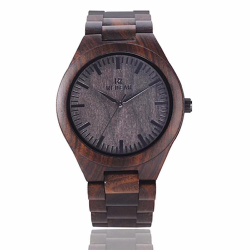 2016 HOT! новый Бамбука Ремень Деревянный Мужская Мода Наручные Часы Аналоговый Дисплей Кварцевые Случайные Часы Relogio Masculino