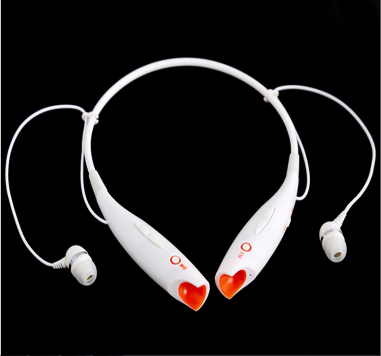 Sports mp3 headsets with FM radio Black white neck hang MMC SD card card read headsets