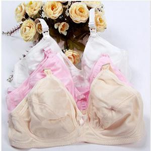 Women Maternity Bra Breastfeeding Bra Pregnant Feeding Nursing Bra 34-42 Cup C Free&Drop Shipping White Nude Pink(China (Mainland))
