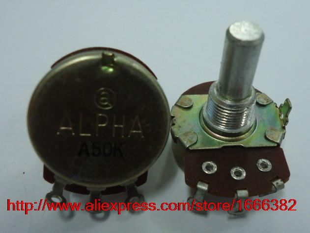 2pcs//Electric guitar game potentiometer single linked A50K 20R RV24AF-10(China (Mainland))