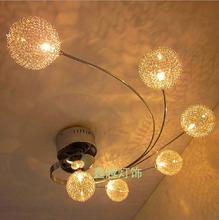 Modern LED Glass Ceiling Light Aluminium Abajur Ceiling Lamp Bedroom Lamparas De Techo G4 Living Room Home Lighting Fixtures