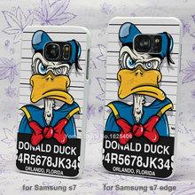 donald duck mug shot hard White Skin Case for Samsung Galaxy s3 s4 s5 mini s6 s7 edge plastic case cover(China (Mainland))