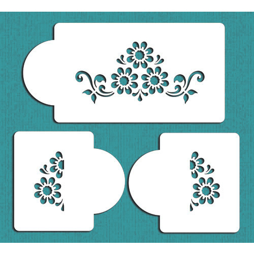 Cake Decorating Flower Templates : Daisy-Lattice-Cake-Stencil-STier-2-Flowers-Cake-Side ...